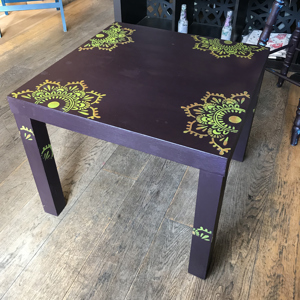 Moroccan Stencilled Coffee Table